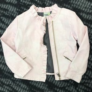 Genuine Kids by Oshkosh Pink Girl Moto Jacket